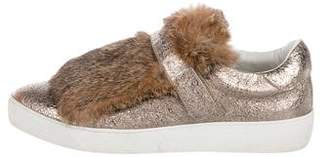 Moncler Lucie Fur-Trimmed Sneakers
