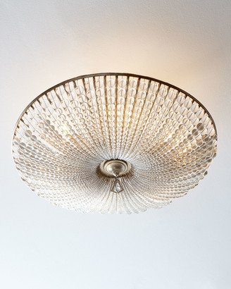 John-Richard Collection John Richard Collection Beaded Crystal Six-Light Semi-Flush Ceiling Fixture