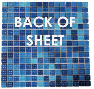 Pool' Abolos Swimming Pool 0.75 x 0.75 Glass Mosaic Tile in Superiority Blue