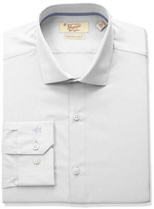 Original Penguin Men's Slim Fit Spread Collar Solid Dress Shirt