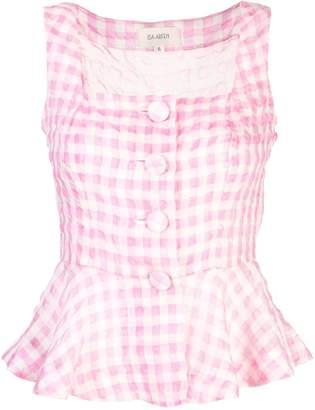 Isa Arfen sleeveless checked blouse