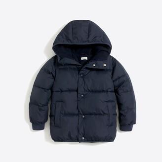 J.Crew Factory Boys' marshmallow puffer coat