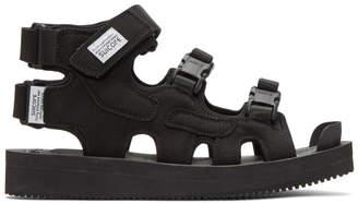 Suicoke Black Boak-V Sandals