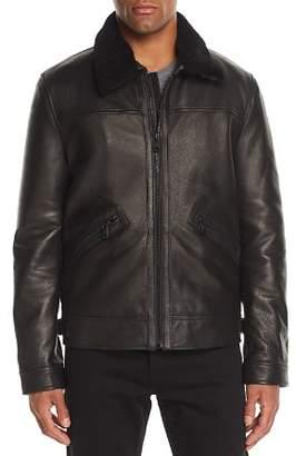 Andrew Marc Kilmer Shearling-Trimmed Leather Jacket