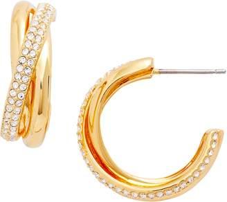 Nadri Trinity Pave Hoop Earrings