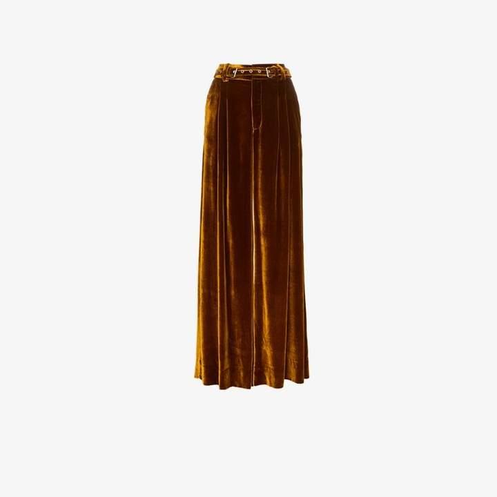 Marques'almeida Wide Leg Velvet Trousers