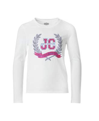 Juicy Couture Childrenswear Glam Laurels Long Sleeved T-shirt