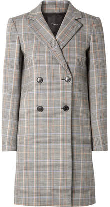 65f64d728249 ... Theory Prince Of Wales Checked Wool-blend Blazer - Gray