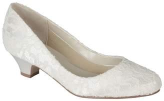 5593c0d7083 at Debenhams · Pink by Paradox London - Lace  Bon Bon  Mid Heel Court Shoes