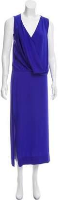 Diane von Furstenberg Drape-Accented Maxi Dress