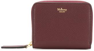 Mulberry grained leather wallet