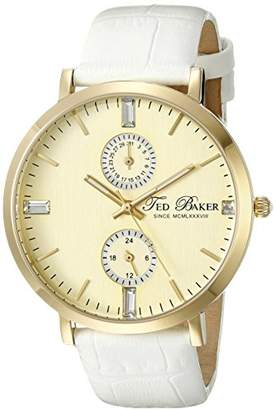 Ted Baker Women's TE2105 Smart Casual Gold Dial Gold Case Strap Watch