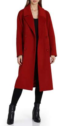 Badgley Mischka Cameron Double-Breasted Wool Coat