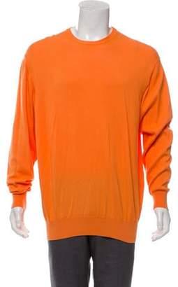 Loro Piana Knit Crew Neck Sweater orange Knit Crew Neck Sweater