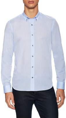 Bespoken Men's Claremont Cotton Curved Hem Sportshirt