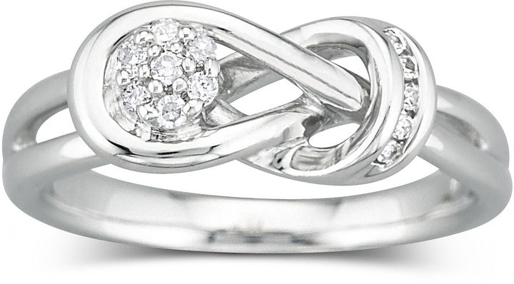 JCPenney FINE JEWELRY Diamond Ring 1/10 CT. T.W. Sterling Silver