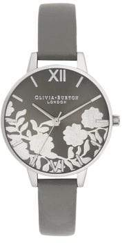 Olivia Burton Lace Stainless Steel Leather Analog Watch