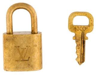 Louis Vuitton Brass Lock & Key Set