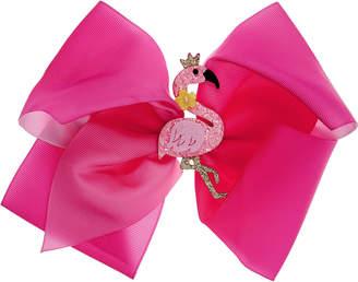 Monsoon Flamingo Big Bow Hair Clip