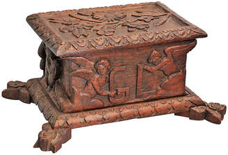 One Kings Lane Vintage Black Forest Box with Putti - Faded Rose Antiques LLC
