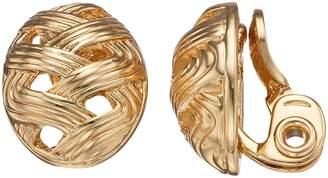 Napier Woven Nickel Free Clip-On Earrings