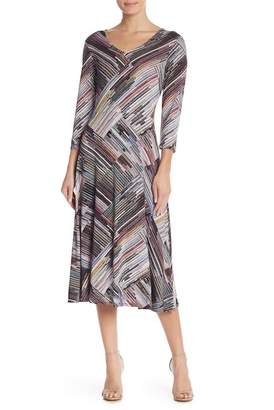 Spense Double V Print Dress