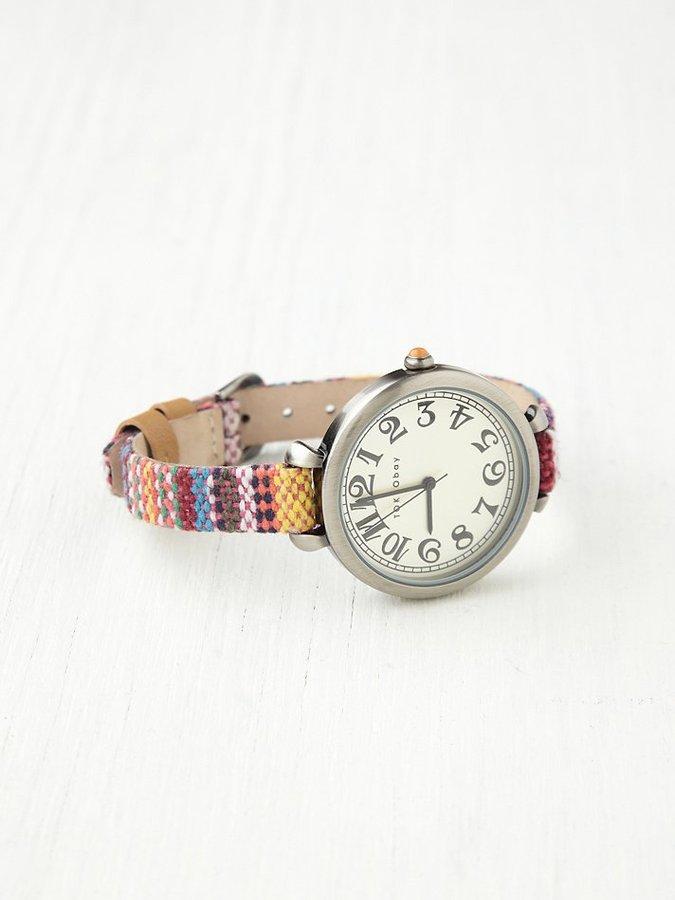 Free People Sedona Woven Strap Watch