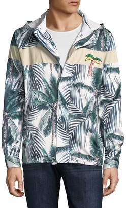 Standard Issue Men's Palm Tree Hooded Rain Jacket