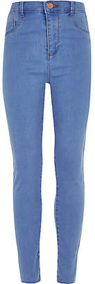River Island Girls blue Molly high waisted jeggings