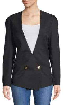 Lanvin Haut Double-Breasted Wool Jacket