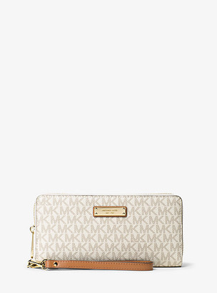 Michael Kors Jet Set Travel Logo Continental Wristlet