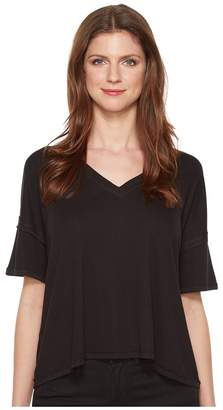 Heather V-Neck Boxy Tee Women's T Shirt