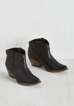Very Volatile The Styled, Wild West Bootie in Onyx $89.99 thestylecure.com
