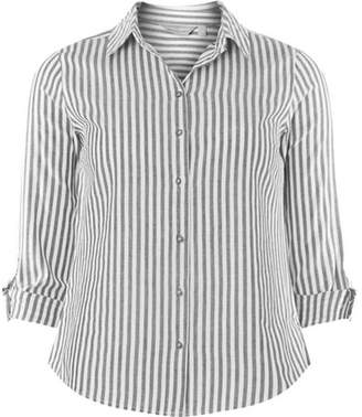 Dorothy Perkins Womens Petite Blue Wide Striped Shirt