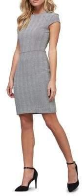 ABS by Allen Schwartz Collection Glen Plaid Sheath Dress