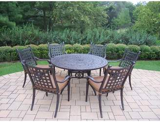 Darby Home Co Vandyne 7 Piece Round Dining Set with Cushions Darby Home Co