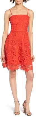Soprano Lace Fit & Flare Dress