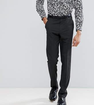 Asos Design DESIGN Tall slim smart pants in charcoal