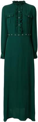 John Richmond long flared maxi dress