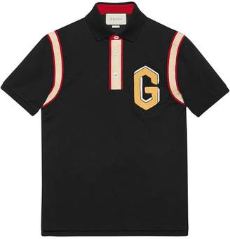 Gucci Cotton polo with G patch
