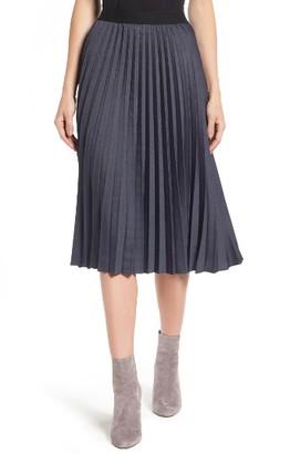 Women's Halogen Pleat Midi Skirt $79 thestylecure.com