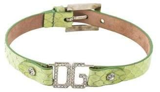 Dolce & Gabbana Crystal Logo Choker Necklace
