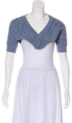 Philosophy di Alberta Ferretti Cable Knit Short Sleeve Shrug