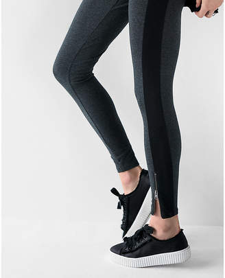 Express High Waisted Sexy Stretch Striped Zip Leggings
