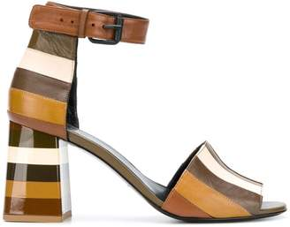 Sonia Rykiel striped ankle strap sandals