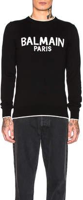 Balmain Paris Sweater in Noir | FWRD