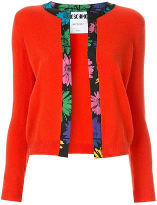 Moschino floral border cardigan
