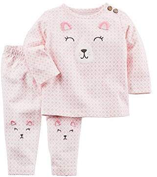 Carter's Baby Girls' 2 Piece Bear Top and Pants Set