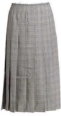Comme des Garcons Women's Pleated Wool Midi Skirt