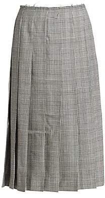 7aaf199e93fd Comme des Garcons Women's Pleated Wool Midi Skirt